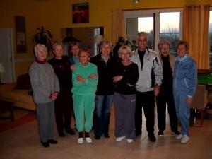 Cours de gym aux Senioriales