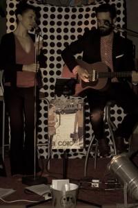 Charlotte et Florian sur scène