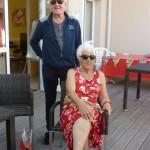 Claude avec Renée le gagnant au panier garni