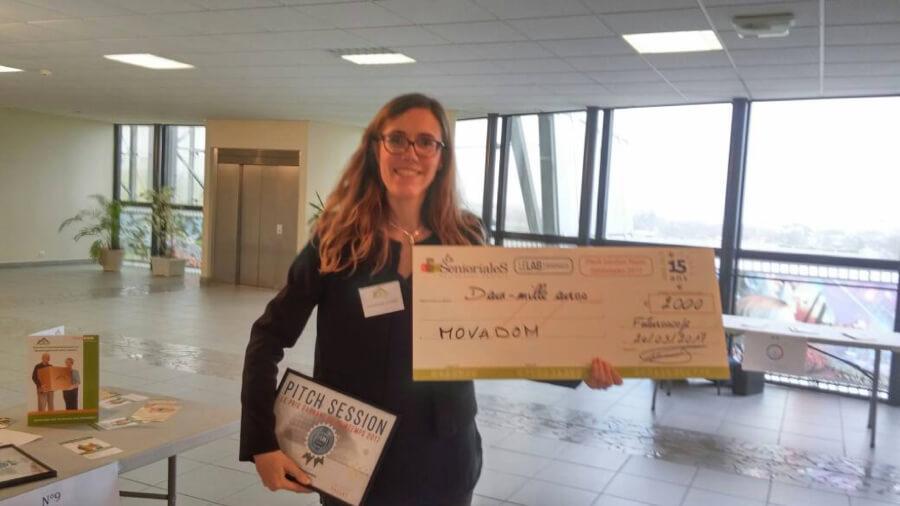 Gwendoline COTREZ, créatrice de MOVADOM, lauréate de la pitch session organisée par les SENIORIALES et SILVER VALLEY