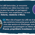 Le LAB Senioriales a besoin d'experts seniors!